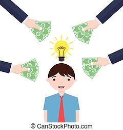 Man with bright idea gets money