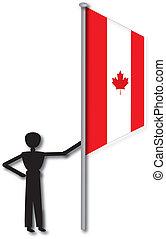 man with canada flag