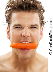 Man With Carrot