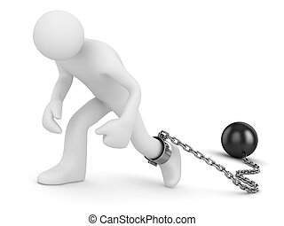 Man with chain ball