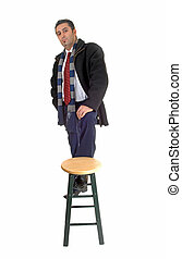 Man with chair.
