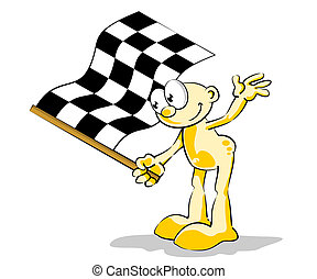 Man with Checkered flag