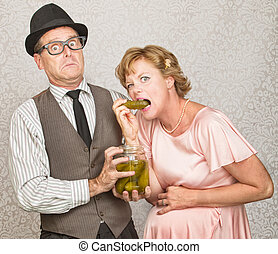 Man with Craving Pregnant Woman
