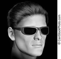 man with dark sunglasses