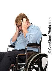 Man With Depression In Wheelchair - Elderly paraplegic in ...