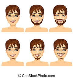 man with different beard styles