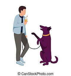 Man With Dog Icon