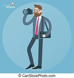 man with dslr camera