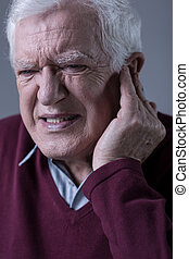 Man with earache