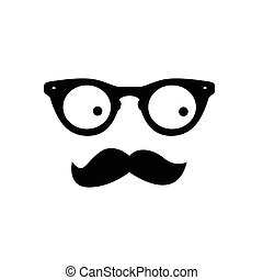 man with eye glasses and mustache