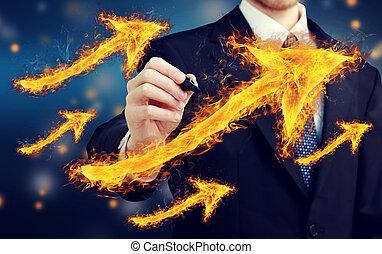 Man with Fiery Arrows