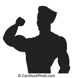 man with fitness outfit icon silhouette