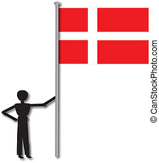 Man With Flag From Country England