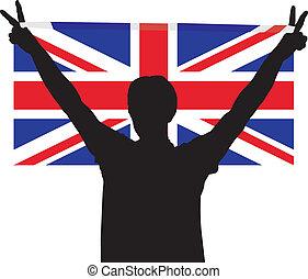 Man with flag of United Kingdom