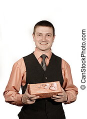man with giftbox