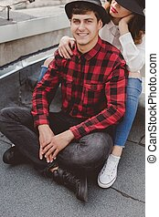 Man with girlfriend