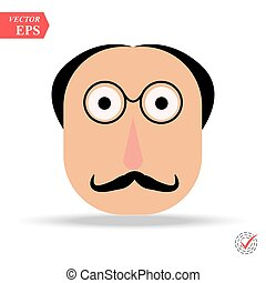 man with glasses and mustache avatar character