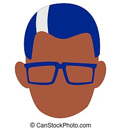 Man with glasses design