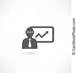 man with graph icon