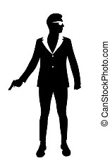 man with handgun vector