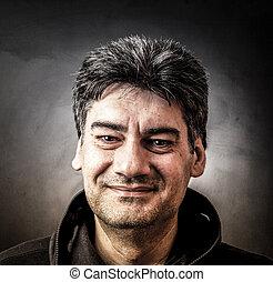 man with happy look