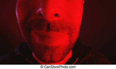 Man with happy smiling facial expression. Close up portrait...