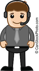 Man with Headphone Vector - Drawing Art of Cartoon Young ...