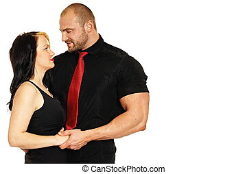 Man with his girl