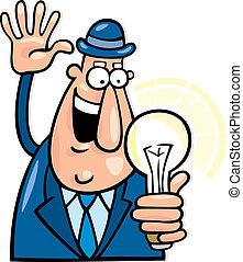 Man with idea