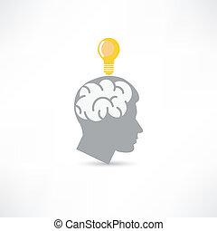 man with idea icon