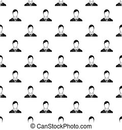 Man with identity name card pattern, simple style