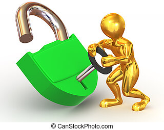 Man with lock