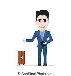 man with luggage bag
