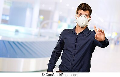 Man With Mouth Mask