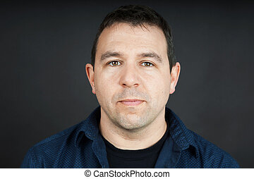 Man with neutral expression - Portrait of a man with neutral...