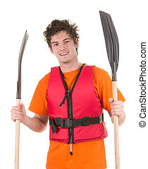 Man with oars