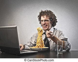 Man with pasta