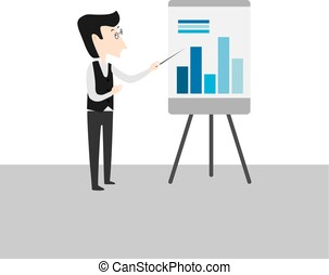 Man with pointer standing at