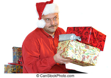 Man with presents
