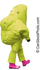 man with protective gear against biological risk on white ...