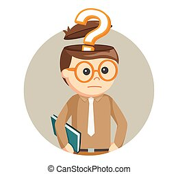 man with question mark in his head