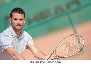 man with racket