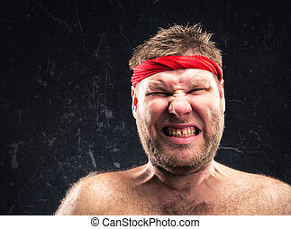 Man with red headband