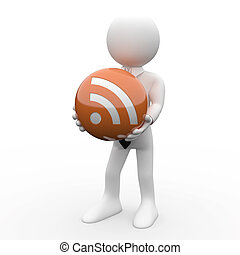 Man with RSS logo