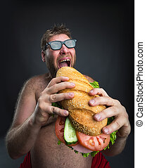 Man with sandwich