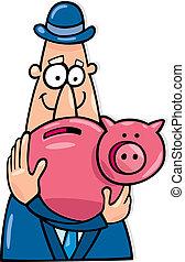 Man with savings