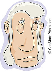 Man With Sideburns - Caricature of man with beard sideburns...