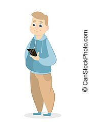 Man with smartphone.