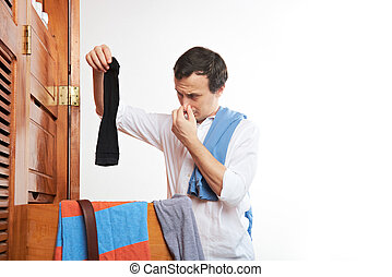 man with sock