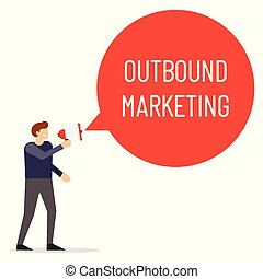 Outbound marketing speech bubble